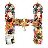 Letter H, for Christmas decoration Stock Images