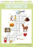 Letter H crossword template vector illustration