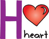 Letter H - heart Royalty Free Stock Photos