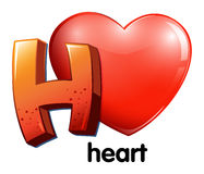 A letter H for heart Stock Photo
