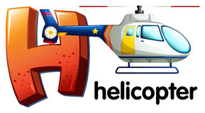 A letter H for helicopter Stock Photography