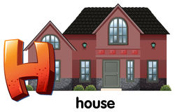 A letter H for house. Illustration of a letter H for house on a white background vector illustration
