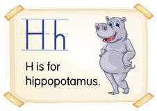 Letter H. Illustration of a flashcard with letter H Stock Photography