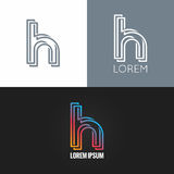 Letter H logo alphabet design icon set background Stock Image