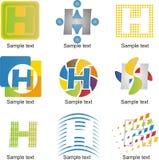 Letter H Logo. Alphabetical Logo Design Concepts. Letter H stock illustration