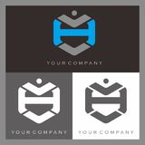 Letter H Logo. With hexagonal shape Royalty Free Stock Images