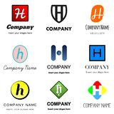 Letter H logo. Vector set of alphabetical Logo Design with different moods and Concepts - Letter H Stock Image