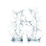 Letter H of water alphabet Royalty Free Stock Photo