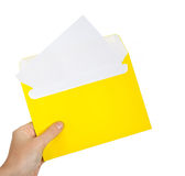 Letter in hand Stock Photo