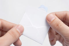Letter in the hands of men Stock Photos
