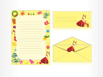 letter head and envelope Royalty Free Stock Photo
