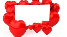 Letter from hearts in 3d Royalty Free Stock Image