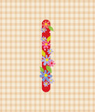 The letter I Bright floral element of colorful alphabet in. And Design Royalty Free Stock Image