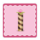 Letter I candies Royalty Free Stock Image