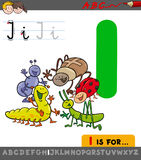 Letter i with cartoon insect characters. Educational Cartoon Illustration of Letter I from Alphabet with Insects Animal Characters for Children Stock Photos