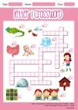 Letter I crossword worksheet royalty free illustration