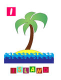 Letter I. Cute cartoon english alphabet with colorful image and word. Royalty Free Stock Photo