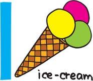 Letter I - icecream Stock Photo