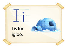 A letter I for igloo. On a white background Royalty Free Stock Images