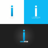 Letter I logo design icon set background Stock Photography