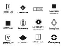 Letter I logos icons Stock Photography