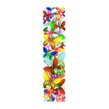 The letter I made up of lots of butterflies of different colors Stock Photo