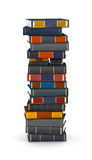 Letter I, stacked from books. Letter I, stacked from many encyclopedy books in pile stock illustration
