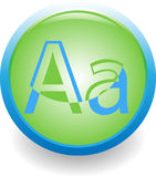 Letter A icon Royalty Free Stock Photo