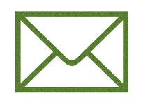 Letter icon. An illustration of a green icon for mail and postal letters Stock Images