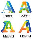 Letter A icon logo Royalty Free Stock Image