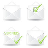 Letter Icon Set Royalty Free Stock Photos