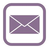 Letter icon Royalty Free Stock Photo