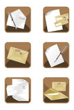 Letter Icons Royalty Free Stock Images