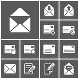 Letter icons Stock Image