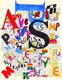 Letter illustration Stock Photo