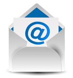 Letter. Illustration of letter and at sign royalty free illustration