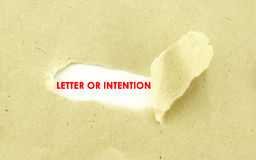 LETTER OF INTENTION Royalty Free Stock Images