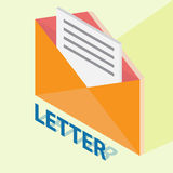 Letter with isometric style Stock Image