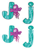 Letter J jellyfish Stock Photo