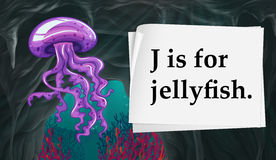 Letter J is for jellyfish Royalty Free Stock Image