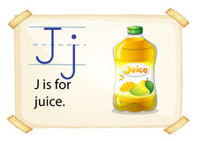 A letter J for juice Royalty Free Stock Photography