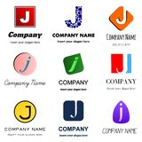 Letter J logo. Vector set of alphabetical Logo Design with different moods and Concepts - Letter J Royalty Free Stock Images