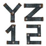 Letter of jeans alphabet Stock Photo