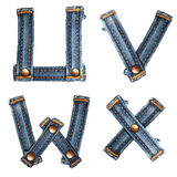 Letter of jeans alphabet Royalty Free Stock Images