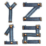 Letter of jeans alphabet Royalty Free Stock Photo