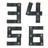 Letter of jeans alphabet Stock Images