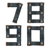Letter of jeans alphabet Royalty Free Stock Photography