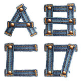 Letter of jeans alphabet number 7 Stock Images