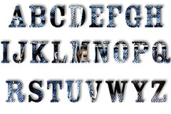 Letter of jeans alphabet Royalty Free Stock Image