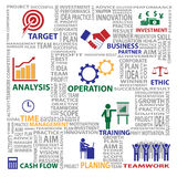 Letter jigsaw and business chart of business concept Royalty Free Stock Photos